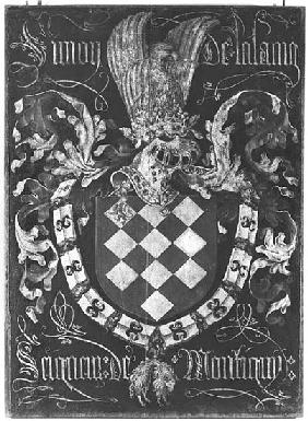 Coat of Arms of Simon de Lalaing (1405-76) Seigneur of Montigny, 1st Chapter of the Order of the Gol