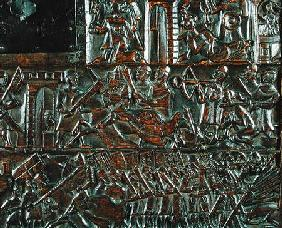 The Courtrai Chest depicting the uprising in Bruges on 18th May during the Battle of the Golden Spur