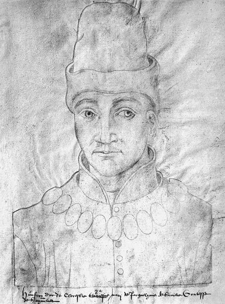 Ms 266 f.37 Portrait of Humphrey of England (1390-1447) Duke of Gloucester, from the 'Receuil d'Arra