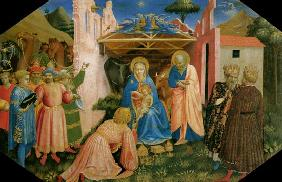 The adoration of the kings Predella of the altar proclamation of Mariae
