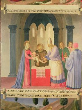 The Circumcision, detail from panel one of the Silver Treasury of Santissima Annunziata
