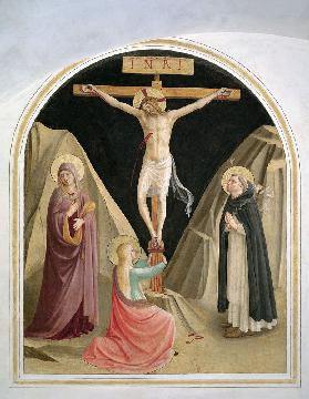 Crucifixion with St. Dominic, from cell 25