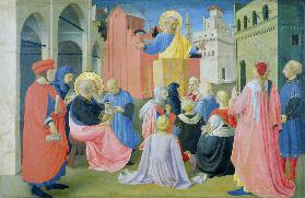 St. Peter Preaching, predella from the Linaiuoli Triptych, 1433 (tempera on panel)