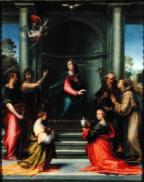 The Annunciation with Saints