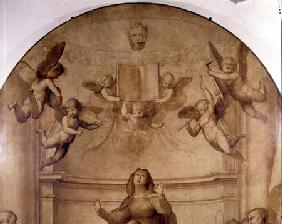 The Great Council Altarpiece, detail depicting two cherubs
