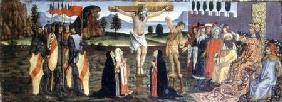 The Crucifixion, predella panel from the Tabernacle of the Sacraments