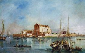 The Island of San Cristoforo della Pace, Murano (oil on canvas)