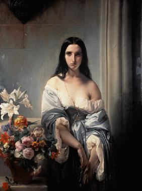 F.Hayez / Melancholic Thought / 1842