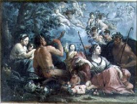 Nymphs, Satyrs and Putti