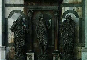 The Preaching of St. John the Baptist with the Pharisee (l) and the Levite (r) placed above the Nort