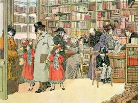 The Book Shop, from 'The Book of Shops', 1899 (colour litho)