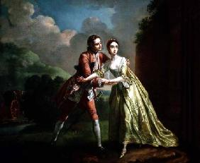 Robert Lovelace preparing to abduct Clarissa Harlowe from 'Clarissa' by Samuel Richardson (1689-1761