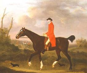 A Gentleman on his Hunter riding to Hounds