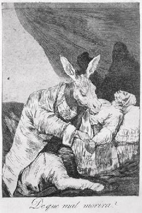 193-0082140 Of what ill will he die? plate 40 of 'Los caprichos', 1799 (etching)