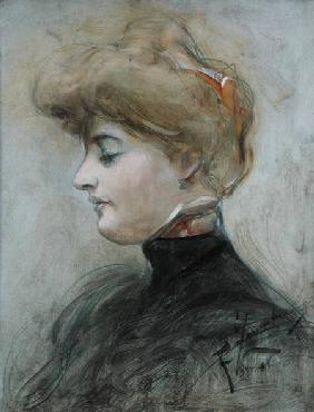 Head of a Blond Woman