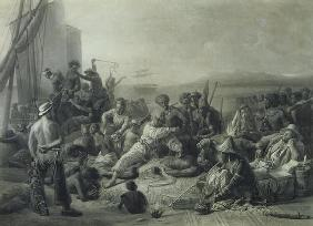 Scene on the Coast of Africa, engraved by Wagstaff, London, 1844 (mezzotint)