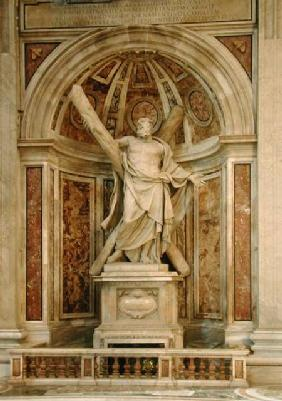 Statue of St. Andrew, at the base of the four pillars supporting the dome