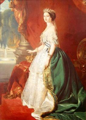 Empress Eugenie (1826-1920) after a portrait by Francois Xavier Winterhalter (1806-73)