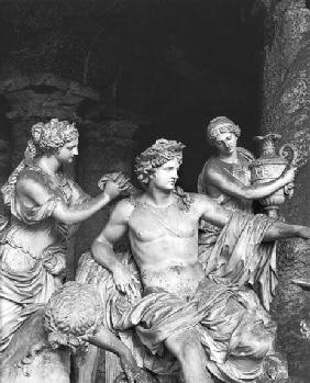 Apollo tended by the nymphs in the grove of the Baths of Apollo, executed with the assistance of Tho