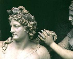 Apollo Tended by the Nymphs, detail showing the head of Apollo, intended for the Grotto of Thetis ex