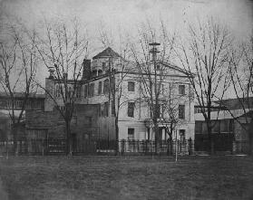 Central High School for Boys, Juniper Street at Center Square, c.1854 (b/w photo)