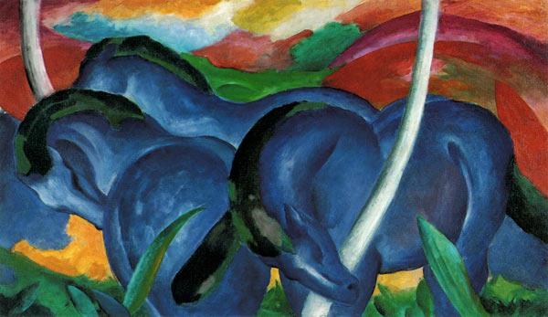 Franz Marc - Grandi cavalli azzurri