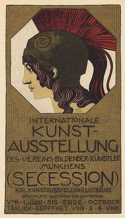 "Poster for the Exhibition of ""Verein Bildender Künstler"", ca. 1898"