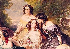 Empress Eugenie (1826-1920) and her Ladies in Waiting, detail of Baronne de Malaret, nee Nathalie de