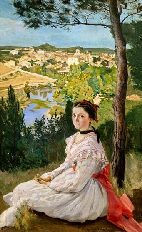 View of the village, Castelnau
