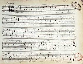 Facsimile of the score of 'Ballade Number 2 in F'