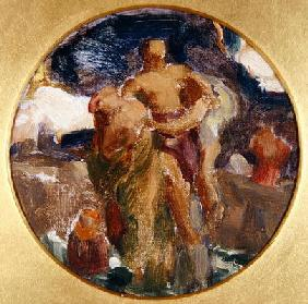 Oil sketch for 'And the Sea Gave Up the Dead Which Were in It', 1891 (oil on canvas)