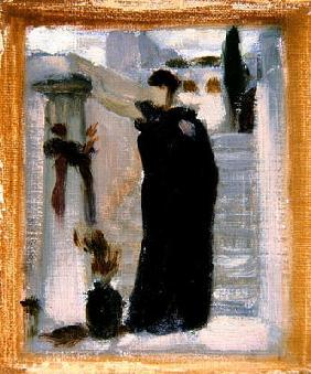 Sketch for 'Electra at the Tomb of Agamemnon', c.1869 (oil on canvas) (see 110468)