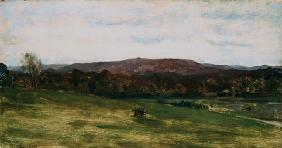 Study of Hills (oil on canvas)