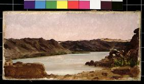 View on the Nile, 1868 (oil on canvas)