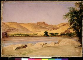 View on the Nile, c.1879 (oil on canvas)