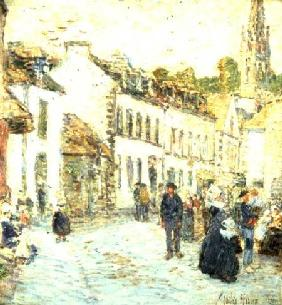An Evening Street Scene, Pont Aven