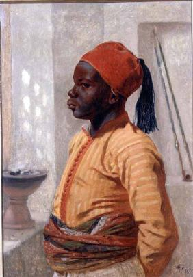Half Length Portrait of an Arab Boy