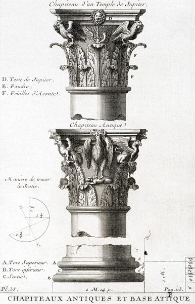 Design for an ancient capital and base from a Temple of Jupiter