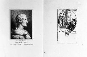 Gaius Cornelius Tacitus (AD 56-c.120) ; engraved by Julien (litho) and St. Gregory of Nazianzus (c.3