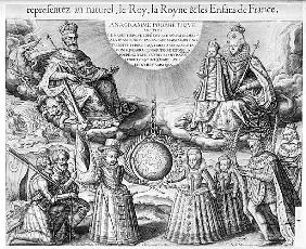 Henri IV (1553-1610) with his Family