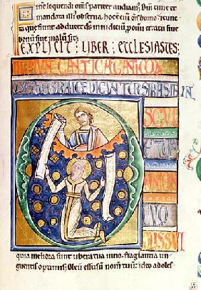 Ms 1 fol.235 The Book of Ecclesiastes, from the Souvigny Bible