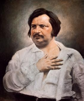 Portrait of Honore de Balzac (1799-1850) after a daguerreotype