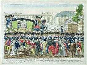 Return of the French Royal Family to Paris on the 25th June 1791