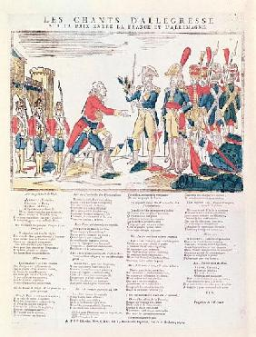 Songs of Rejoicing for the Peace between France and Germany