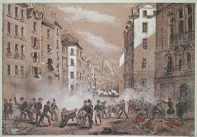 The Army Attacking a Barricade in Rue St. Antoine