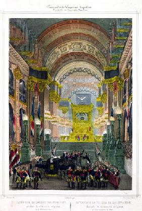 The Arrival of Napoleon''s Ashes at L''Eglise des Invalides, 15th December 1840