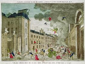 The Attempted Assassination of Napoleon Bonaparte (1769-1821) on the Rue Saint-Nicaise, Paris, 24th