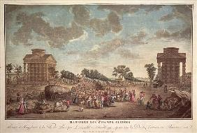 The Barrier at the Champs Elysees. The Suppression of Right of Entry to Paris in 1790