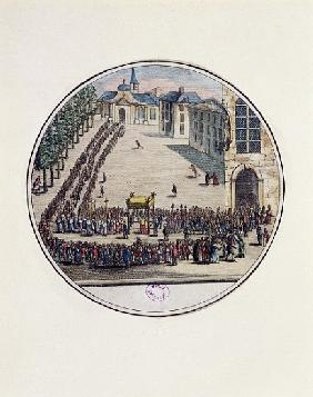 The Blessed Sacrament being carried in Procession at the Opening of the Estates General at Versaille