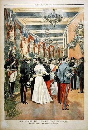 The Centenary of the Ecole Polytechnique: A ball at the Trocadero, from the illustrated supplement o